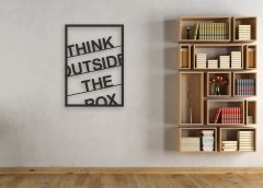 "Декор панно в стилі лофт ""Think outside the box"""